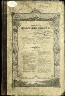 Dr Heinrich Berghaus' Physikalischer Atlas. Abt. 7, Anthropographie : in 4 Blättern