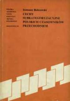 Cechy subkategoryzacyjne polskich czasowników przechodnich