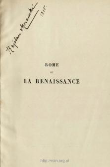 Rome et la renaissance : essais et esquisses : Jules II : ouvrage accompagné de dix gravures