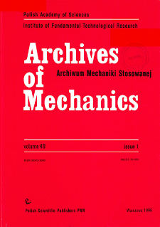 Archives of Mechanics Vol. 48 nr 1 (1996)