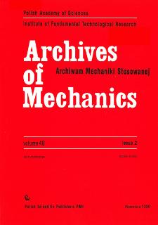 Archives of Mechanics Vol. 48 nr 2 (1996)