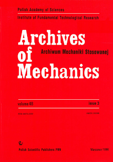 Archives of Mechanics Vol. 48 nr 3 (1996)