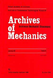 Archives of Mechanics Vol. 48 nr 4 (1996)