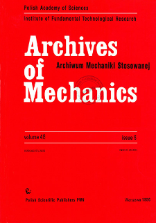 Archives of Mechanics Vol. 48 nr 5 (1996)
