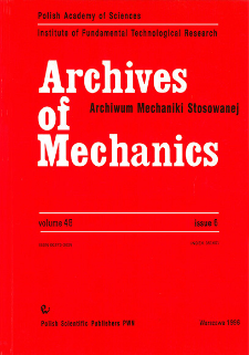 Archives of Mechanics Vol. 48 nr 6 (1996)