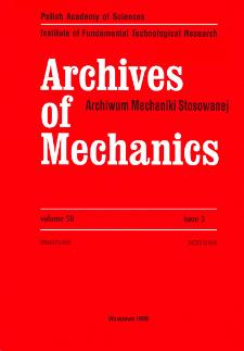 Archives of Mechanics Vol. 50 nr 5 (1998)