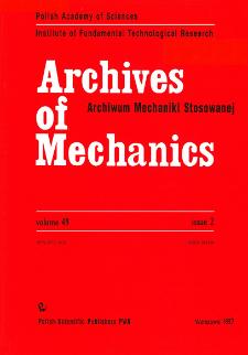 Archives of Mechanics Vol. 49 nr 2 (1997)