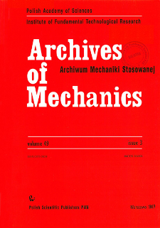 Archives of Mechanics Vol. 49 nr 3 (1997)