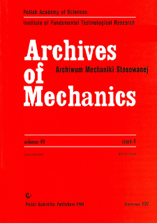 Archives of Mechanics Vol. 49 nr 4 (1997)