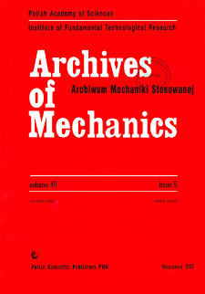 Archives of Mechanics Vol. 49 nr 5 (1997)