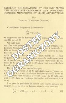 Systèmes de équations et des inégalités différentielles ordinaires aux deuxièmes membres monotones et leurs application