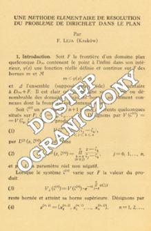 Une méthode élémentaire de résolution du problème de Dirichlet dans le plan