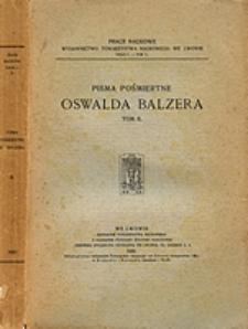 Pisma pośmiertne Oswalda Balzera. T. 2, 2 / Studyum o Kadłubku