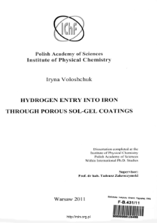 Hydrogen entry into iron through porous sol-gel coatings