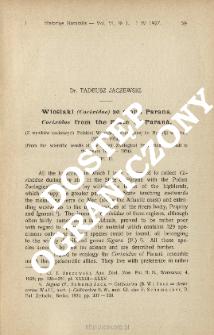 Wioślaki Corixidae ze stanu Parana : (Z wyników naukowych Polskiej Wyprawy Zoologicznej do Brazylji w latach 1921-1924)