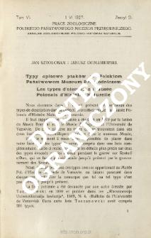 Typy opisowe ptaków w Polskiem Państwowem Muzeum Przyrodniczem