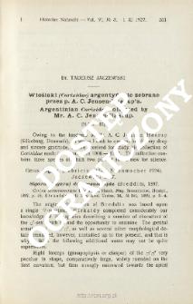 Wioślaki (Corixidae) argentyńskie zebrane przez p. A. C. Jensen- Haarup'a