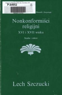 Nonkonformiści religijni XVI i XVII wieku : studia i szkice