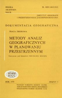 Metody analiz geograficznych w planowaniu przestrzennym : praca zbiorowa = Methods of geographical analyses in spatial planning