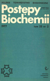 Postępy biochemii, Tom 23, Nr 2