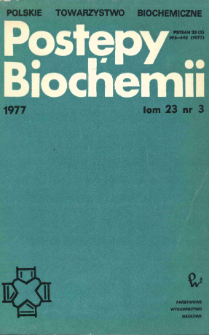 Postępy biochemii, Tom 23, Nr 3
