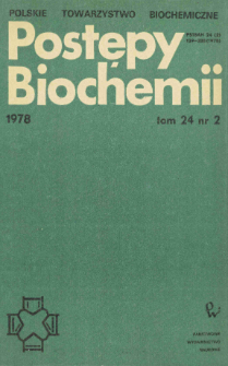 Postępy biochemii, Tom 24, Nr 2
