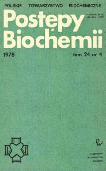 Postępy biochemii, Tom 24, Nr 4