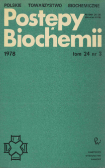 Postępy biochemii, Tom 24, Nr 3