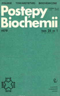 Postępy biochemii, Tom 25, Nr 1