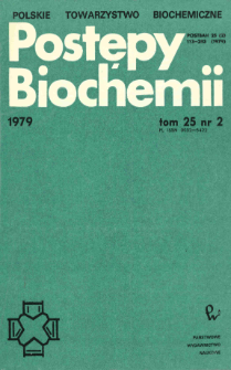 Postępy biochemii, Tom 25, Nr 2