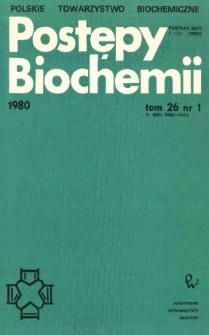 Postępy biochemii, Tom 26, Nr 1