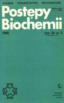 Postępy biochemii, Tom 26, Nr 2