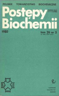 Postępy biochemii, Tom 26, Nr 3