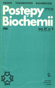 Postępy biochemii, Tom 27, Nr 2