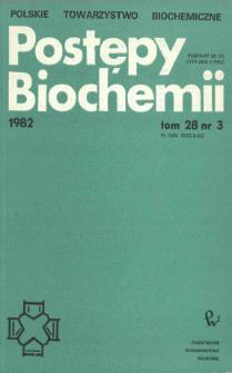 Postępy biochemii, Tom 28, Nr 3