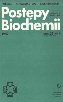 Postępy biochemii, Tom 28, Nr 4