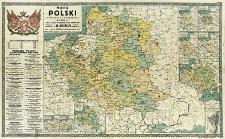 Mapa Polski z podziałem na województwa z 1770 r. oraz kilku ważniejszych okresów