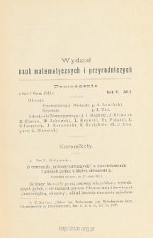 Sprawozdania z Posiedzeń Towarzystwa Naukowego Warszawskiego, Wydział III, Nauk Matematycznych i Przyrodniczych Rok V. No 3.