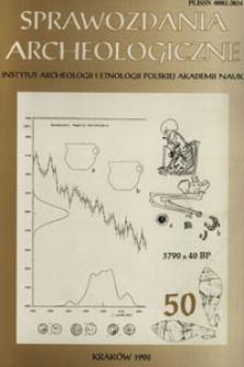 Chronologia absolutna grupy krakowsko-sandomierskiej kultury ceramiki sznurowej na podstawie danych z cmentarzyska w Żernikach Górnych