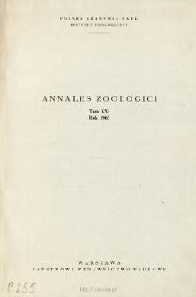 Annales Zoologici ; t. 21 - Spis treści