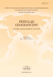 Przegląd Geograficzny T. 85 z. 1 (2013), Spis treści