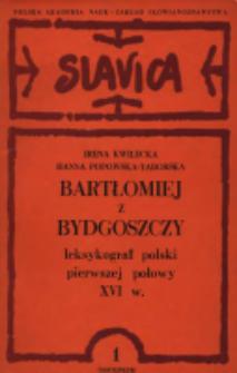 Bartłomiej z Bydgoszczy : leksykograf polski pierwszej połowy XVI w.