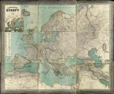 Mappa ogólna Europy w 9-ciu częściach wykonana według najnowszych źródeł z siecią kolejową uzupełnioną do 1896 roku
