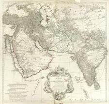Prémière Partie De La Carte D'Asie Contenant La Turquie, L'Arabie, La Perse, L'Inde En Deça Du Gange Et De La Tartarie, ce qui est limitrophe de la Perse et de l'Inde