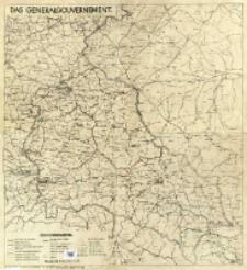 Das Generalgouvernement : [mapa administracyjna]