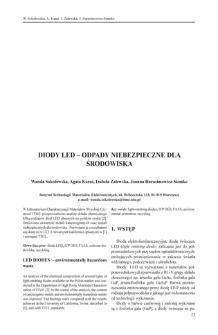 Diody LED - odpady niebezpieczne dla środowiska