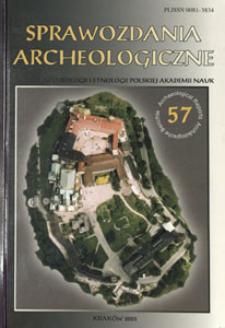 Sprawozdania Archeologiczne T. 57 (2005), Spis treści