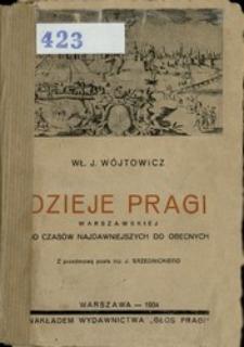 Dzieje Pragi warszawskiej od czasów najdawniejszych do obecnych