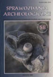 Sprawozdania Archeologiczne T. 58 (2006), Reviews