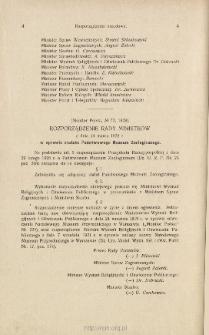 Rozporządzenie Rady Ministrów : z dnia 14 marca 1928 r. w sprawie statutu Państwowego Muzeum Zoologicznego [Monitor Polski, Nr 72, 1928]